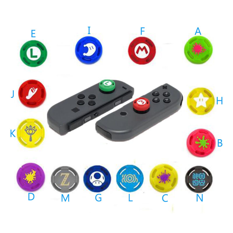 Silicone Thumb Stick Grip Caps Analog Joystick Cover Case For Zelda Mario Nintend Switch NS JoyCon Controllers Joy-Con JoypadSilicone Thumb Stick Grip Caps Analog Joystick Cover Case For Zelda Mario Nintend Switch NS JoyCon Controllers Joy-Con Joypad