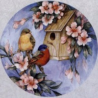 Diamond Embroidery Birds Color Animal Diy Painting 5D Diamond Cross Stitch Round Custom Crystal Crafts Products