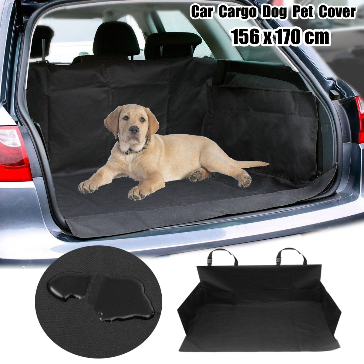 1pcs Black Waterproof Pet Dog Car Boot Seat Cover SUV/Trunk Protector Liner Mat Oxford seat cover waterproof oxford dog auto car blanket trunk mat back seat cover cushion pet vehicle nonslip folding seat cover