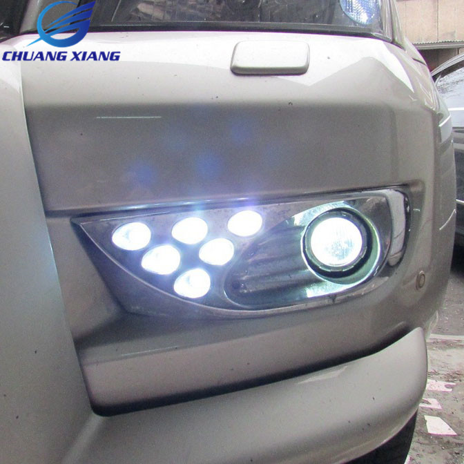 Led Front Fog Lamp Fog Light For Toyota Land Cruiser Prado 120 LC120 Accessoreis 2003-2009 led drl for toyota land cruiser prado 120 lc120 fj120 2003 2009 daytime running lights with light off function
