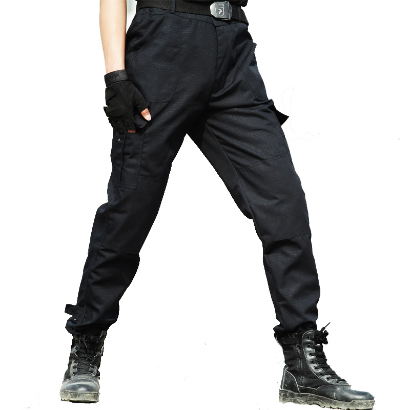 Cargo Pants Military Tactical Work Pants Men Workwear Working Clothes Combat Trousers Casual Thin Black Pantalon Baggy Pants