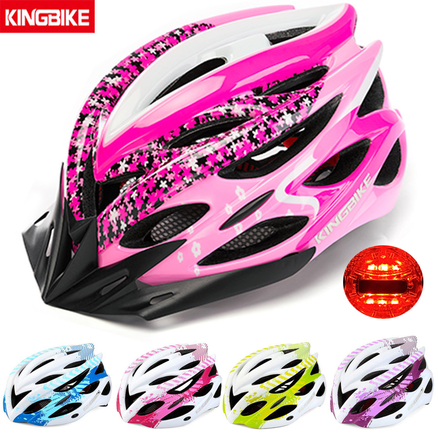 666880ea8962f KINGBIKE 2019 Nova MTB Estrada Capacete Da Bicicleta Integralmente-moldado  Ultraleve Capacete Capacetes de Ciclismo Luz Dos Homens Das Mulheres  capacete ...