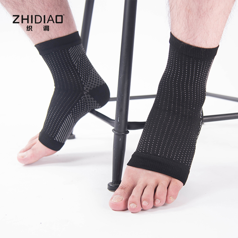 High quality men compression socks women second-level protection of ankle elastic stitching chaussette compression knee sock