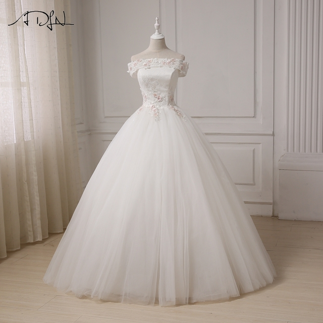 Adln Elegant Wedding Dresses 2017 Ball Gown Off The Shoulder Bridal Gowns Vintage Lique
