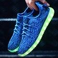 Новые туфли Светодиодные светящиеся Повседневная обувь USB Аккумуляторная Красочные светящиеся тренеров Во Главе Освещенные обувь