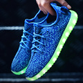 Sapatos novos Led luminosos sapatos Casuais USB Recarregável incandescência Colorido sapatos formadores Iluminadas Levaram