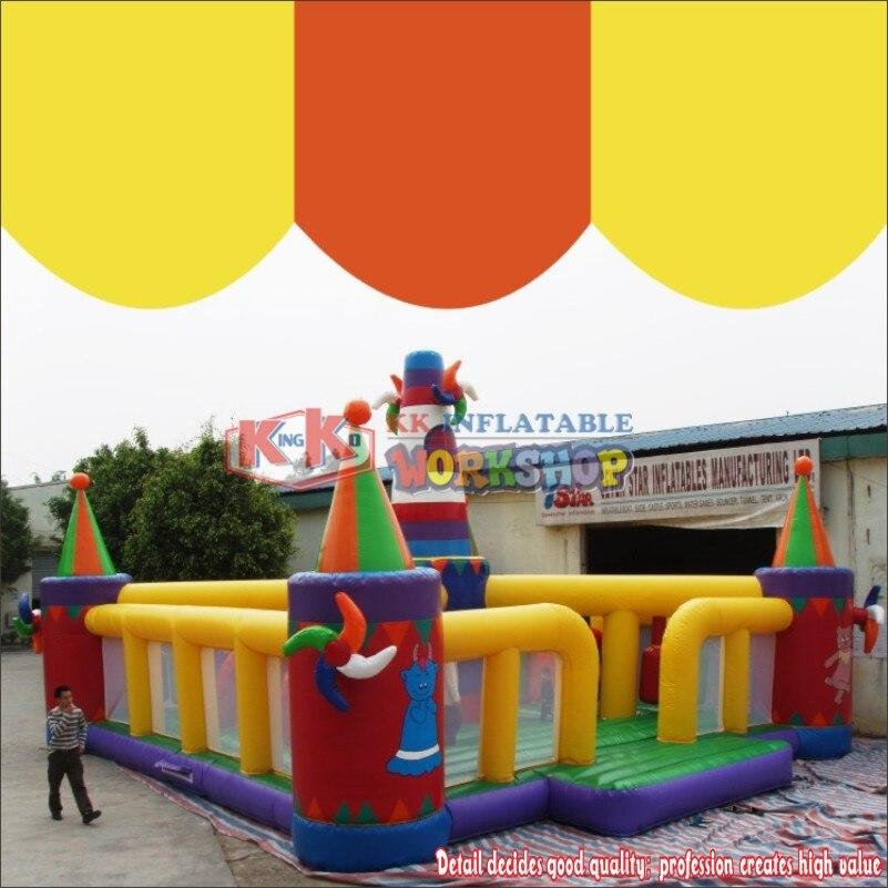 Nouvelle ville gonflable d'amusement gonflable de terrain de jeu de ferme de moulin à vent de conception pour des enfants