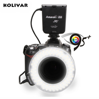 KOLIVAR Aputure Halo HN100 LED Marco Ring Light Video Light For Nikon D7100 D7000 D5200 D5100 D800E D800 D700 D600 D90 Camera
