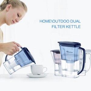 Image 5 - Wheelton бытовой и пикника двойной фильтр чайник и прикрепить дополнительные 3 картридж фильтр для воды очиститель воды Brita Бесплатная доставка