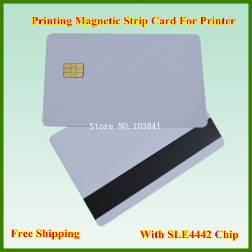 Magnetic strip Card with SLE4442 Chip Composite Card for epson Canon inkjet Printer contact smart card
