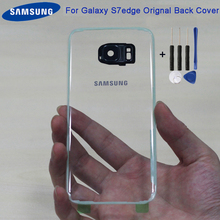 Original Samsung Transparent Back Battery Cover Glass Housing For GALAXY S7 G9300 S7Edge G9350 Rear Case