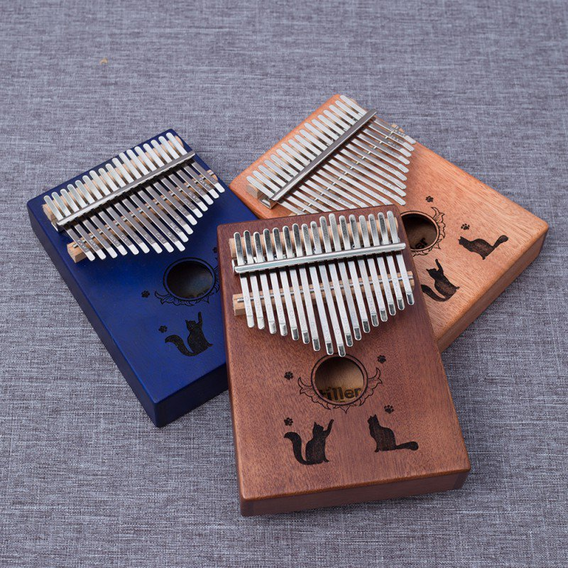 New Thumb Piano Kalimba 17 Keys Solid Wood Portable Adjustable Musical Keyboard Instruments For Beginners