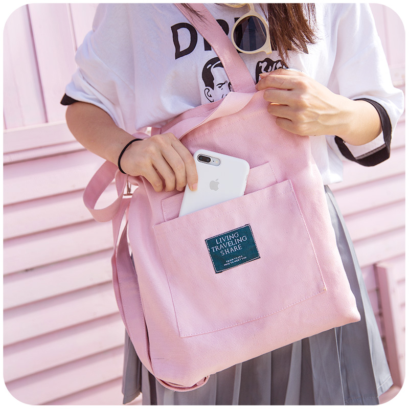 S New Cute Ping Canvas Bag Female Size Colorful