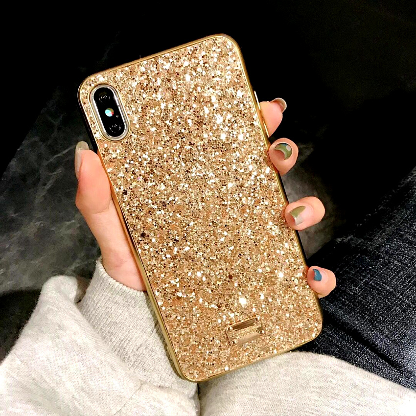Luxury brand Bling Case For iphone 8 Plus 6s iphone X XS Max XR XS 10 Glitter 7plus Coque Cover For iphone 7 Plus  6 s Plus Case (4)
