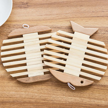 Wooden Dining Table Placemats Pot Cup Mat Heat Insulation Kitchen Accessories Decoration Home