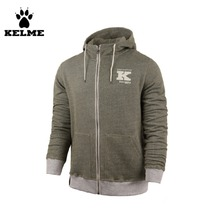 Kelme Fall/Winter Sports And Leisure Men Hooded Knitted Sweater K15F618 Army Green