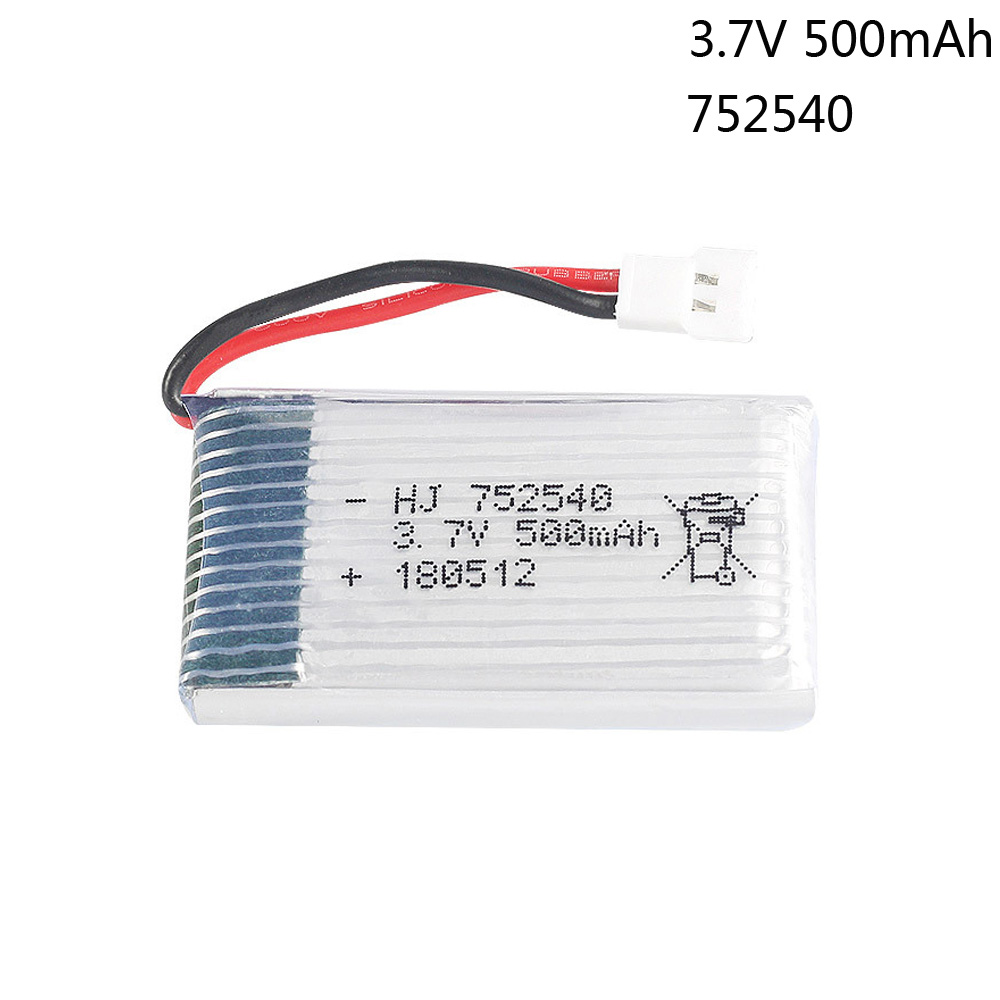 3.7V <font><b>500mAh</b></font> Lipo <font><b>Battery</b></font> For Syma X5C X5SW M68 Cheerson CX-30 H5C Tianke M68 Quadrocopter <font><b>3.7</b></font> V 500 mAh toy <font><b>battery</b></font> 1S 752540 image