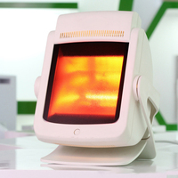 200w Infrared Therapy Heat Lamp Pain Relief Physiotherapy Heating Light Massage Health Infra Care Desktop Stand