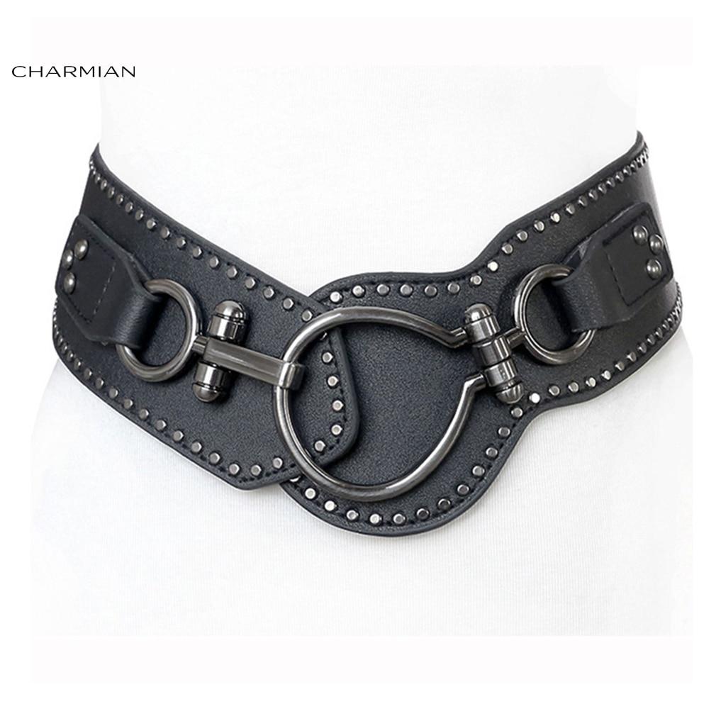 Charmian Vintage Steampunk Corset Belt Fashion Women Gothic Elastic Waist Belt Punk Rock Clothing Costume Corset Accessories