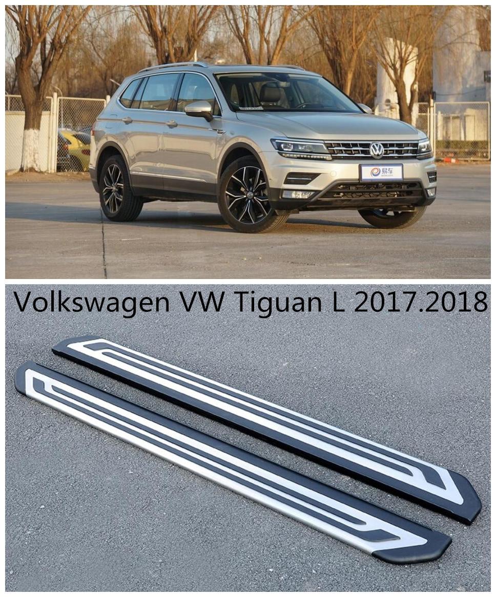 Для Volkswagen VW Tiguan L 2017.2018 автомобилей Бег Панели Авто шаг в сторону Бар Педали для автомобиля Высокое качество Европейский Стиль Nerf бары