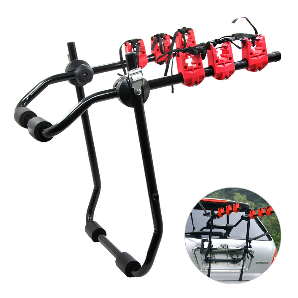 CARGOOL Car Bike Rear Rack Folding Bike Trunk Mount Rear Cycle Carrier Bicycle Roof Rack car bike carrier car roof bike carrier roof bicycle rack for 2 bikes