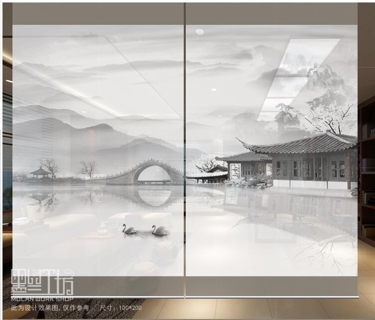 2017 chambre diviser Biombo modèles d'écran conceptions fenêtre Partition rideau translucide salon suspendu rideau doux 100 cm x 200 cm