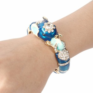 Image 3 - Tuliper браслет Animal Bangles For Women Femme 2020 Elephant Crystal Bracelets Enamel Wristband Party Jewelry Brazalete Mujer