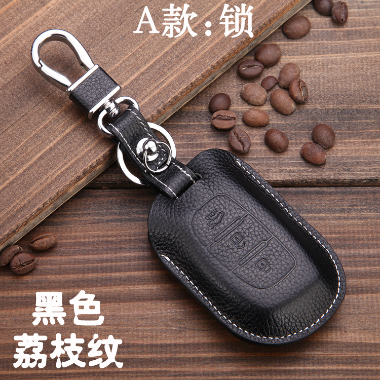 Genuine leather car key case for hyundai ix35 ix25 santafe key holder wallets for Kia k5 k3 Sportage R sorento car key cover top layer leathe key case key bag key cover for kia ceed sorento cerato k3 k3s k4 k5 kx3 sportage kx5 3 buttons remote control