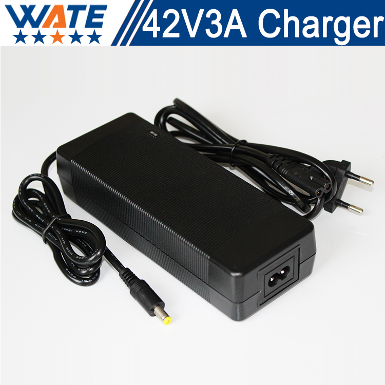 42V 3A Charger 10S 36V Li-ion Battery Charger Output DC 42V Lithium polymer battery Charger Free shipping