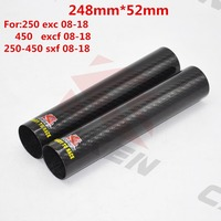 motorcycle Carbon Fiber Front Fork wraps Guard leg Shock Absorption cover protector for ktm exc excf sxf 250 350 450 08 18