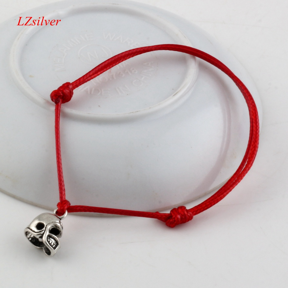 Hot ! 100pcs Adjustable Bracelets Red Waxes rope Antique silver Alloy 3D Small Football Helmet Charm Adjustable Bracelet B-28