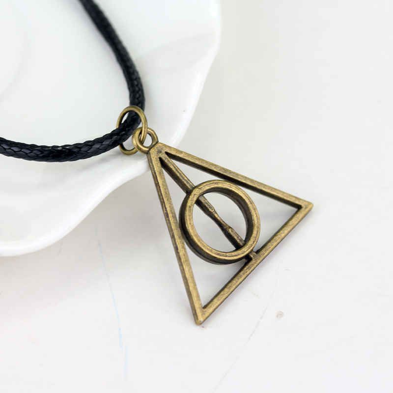 Movie Simple Deathly Hallows Collier Cross Statement ketting hanger - Mode-sieraden