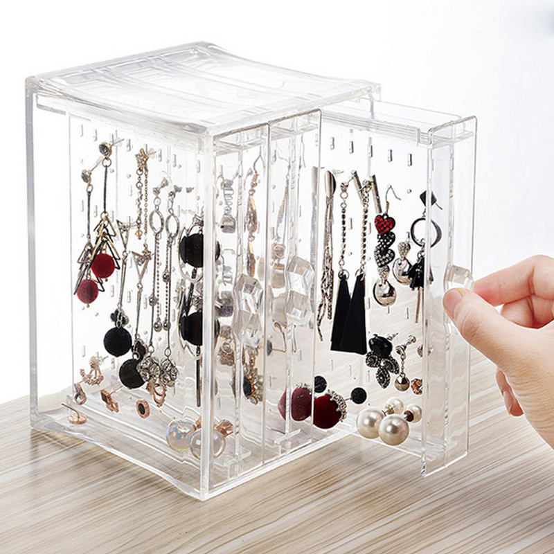 Mordoa New Acrylic Transparent Crystal Jewelry Plastic PS Showing Shelf Necklace Rack Box Earrings Hanger Nail Art Display Stand недорго, оригинальная цена