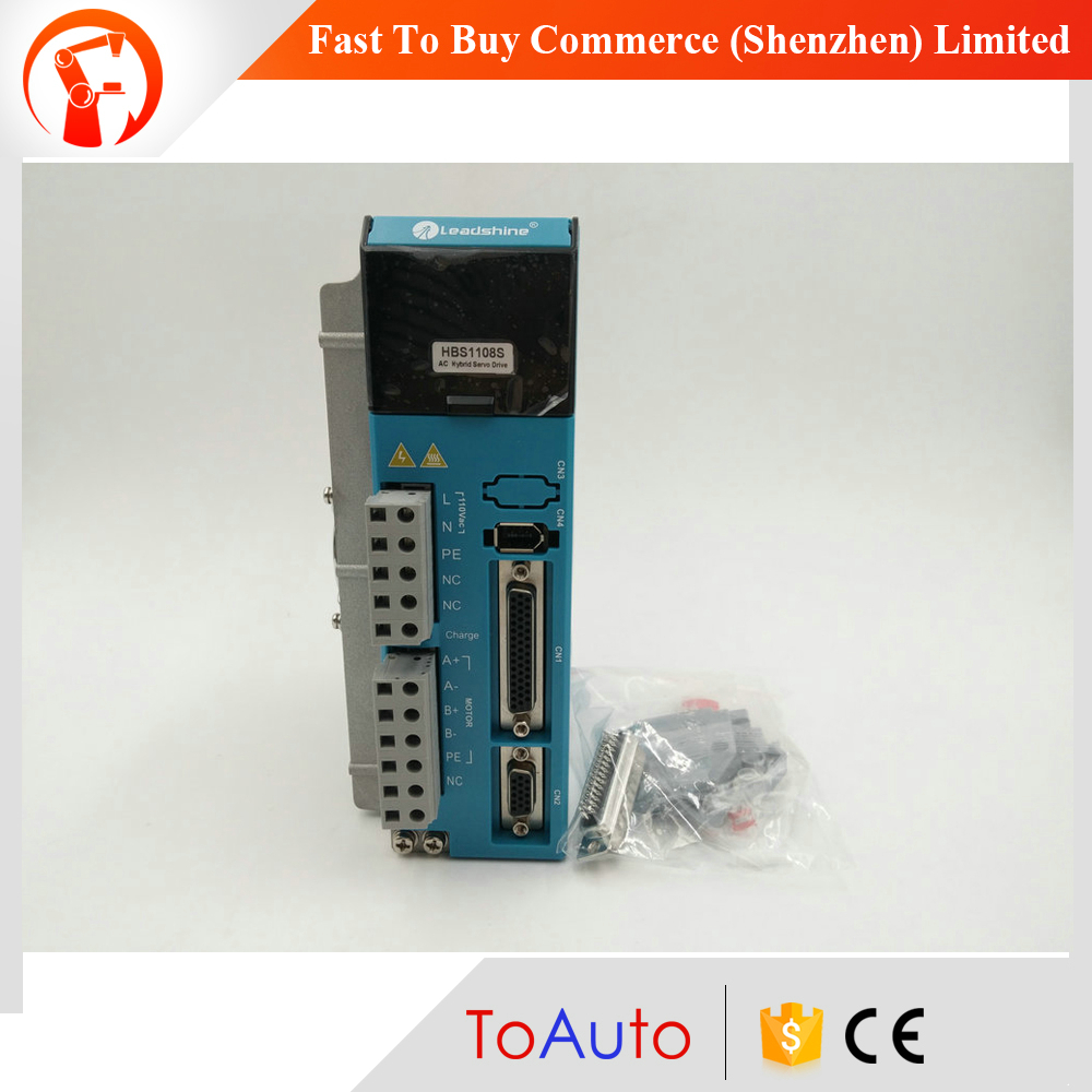 HBS1108S Leadshine AC Hybird Servo Drive ES-DH1208 Closed Loop Stepper Driver 8A 90~130VAC Matching 86mm NEMA34 motor used 100% tested mcdht3520e ac servo drive mcdht3520e for pan servo driver mcdht3520e