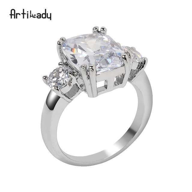 Artilady Meghan engagement ring Royal wedding ring wedding jewelry gift dropshipping