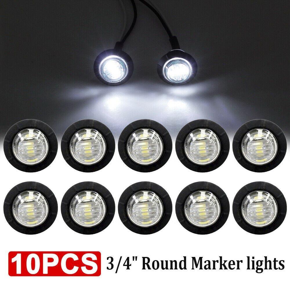 10PCS Car External Lights LED 12V 3 SMD LED Auto Car Bus Truck Wagons Side Marker Indicator Trailer Light Rear Side Lamp
