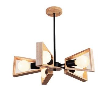 Led lampada lampadario per sala da pranzo in legno Nordic ...
