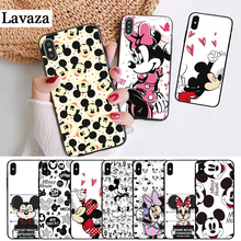 Lavaza Cartoon Mickey Mouse Couple Silicone Case for iPhone 5 5S 6 6S Plus 7 8 11 Pro X XS Max XR lavaza cartoon mickey mouse couple silicone case for iphone 5 5s 6 6s plus 7 8 11 pro x xs max xr