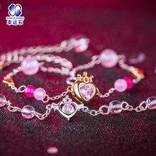 Sailor Moon Cosplay karkötő Crystal 925 Sterling ezüst Anime kiegészítők Kawaii ajándékok nőknek Fizika Chibiusa