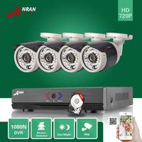 4CH 1080N AHD DVR 720P Outdoor CCTV Home Surveillance Security Camera System 500GB Hard Disk