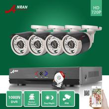 ANRAN HD 4CH 1080N AHD DVR 720P 36IR D/N Outdoor Waterproof CCTV Home Surveillance Security Camera System With 500GB Hard Disk