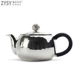 High grade 999Silver made Tea Kettle Kung Fu Tea gift for family and friends kitchen office tea set