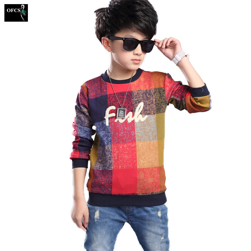 New Design Style Boy Leisure Color Sweater Quare Model Children's Long Sleeve Pullover Knitting Clothes Star Pattern Design 5-15