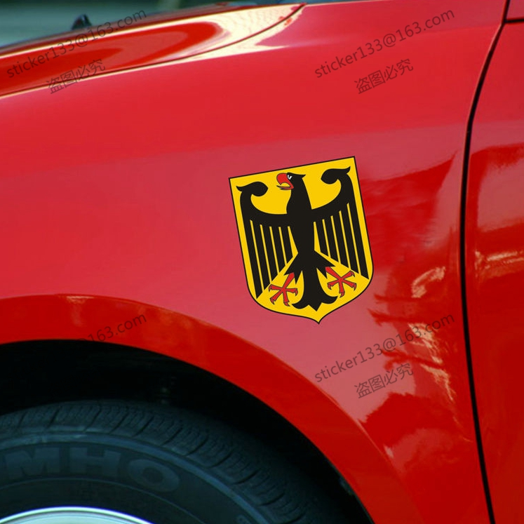 Coat of arms of germany german eagle flag 3m refletive vinyl car decal bumper sticker 10cm high in car stickers from automobiles motorcycles on