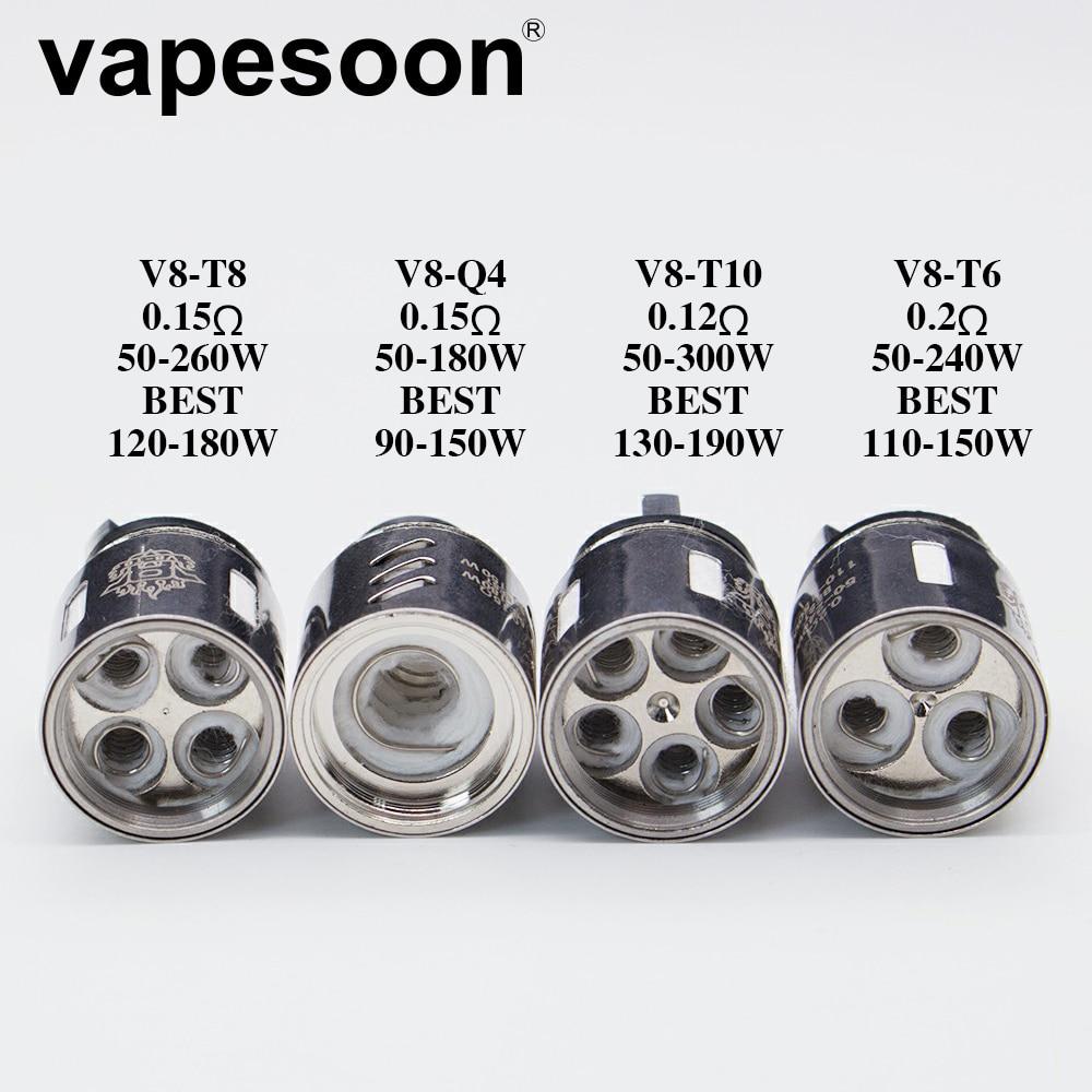 40 個本物 VapeSoon V8 T10 V8 T6 V8 Q4 V8 T8 交換コイル TFV888 クラウド獣タンク  グループ上の 家電製品 からの 電子タバコ アトマイザーコア の中 1