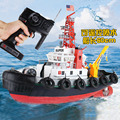 Juguetes educativos para niños súper grandes barcos rc para niños Al Aire Libre juego de rociadores chorro de agua de juguete barco de control remoto 3810