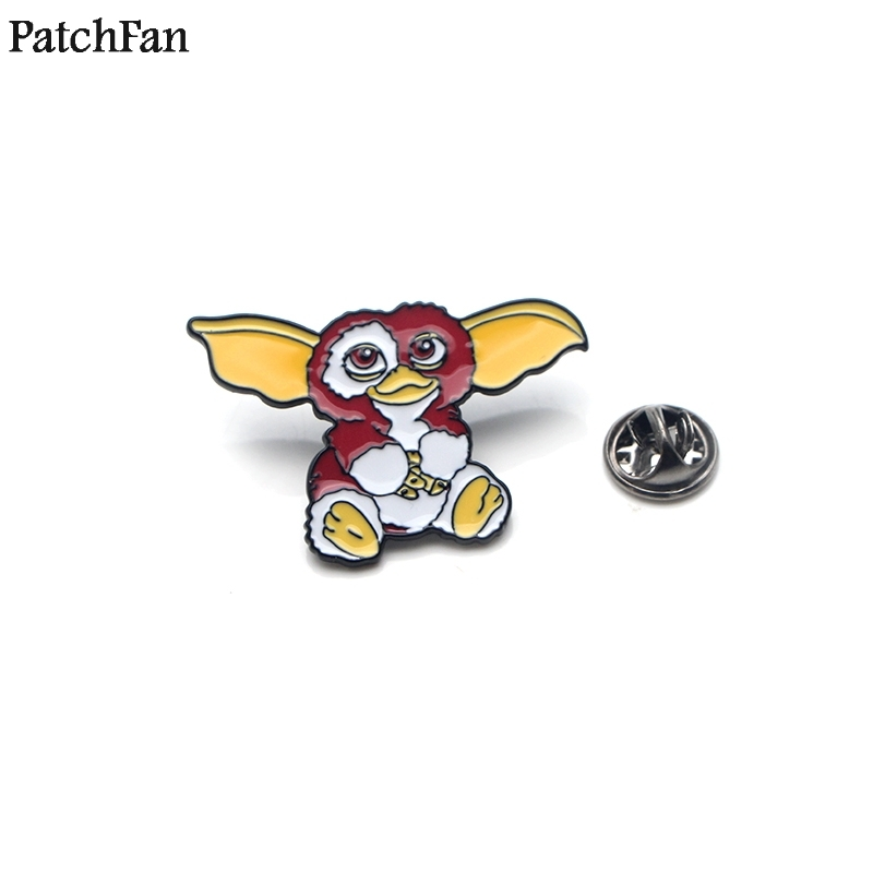 Badges Gentle 20pcs/lot Patchfan Gremlins Gizmo Zinc Tie Cartoon Funny Pins Backpack Brooches For Men Women Hat Decoration Badges Medals A1373 Drip-Dry Home & Garden