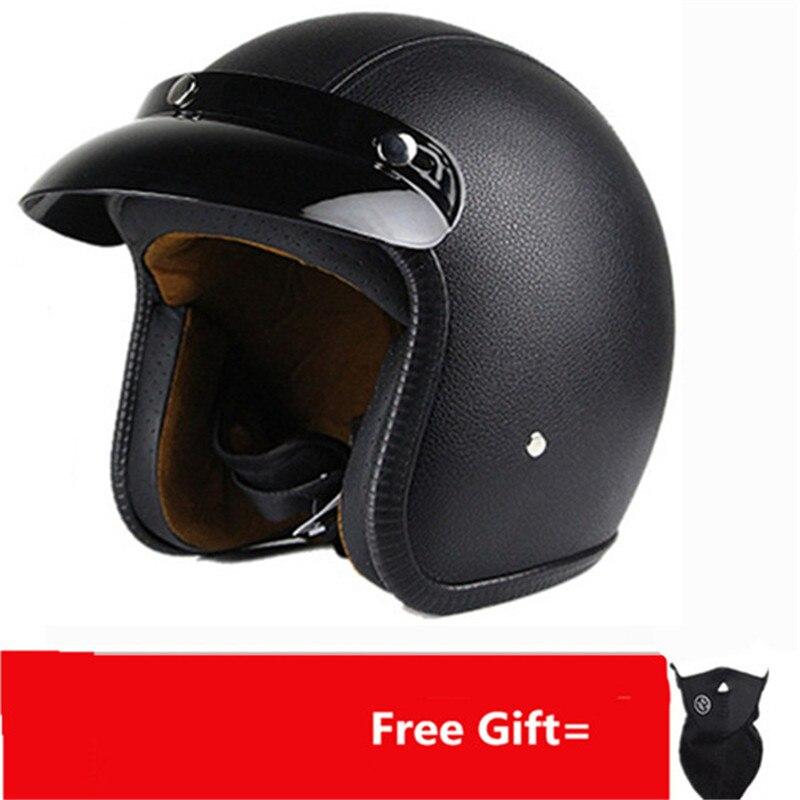 2018 HEIßER VERKAUF motorrad helm retro open gesicht vintage helm casco JET kask vespa casque cafe racer pilot capacete