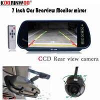 Koorinwoo HD 7 รถยนต์กระจกจอแสดงผล 360 องศาย้อนกลับที่จอดรถ Assist รถยนต์ Parktronic