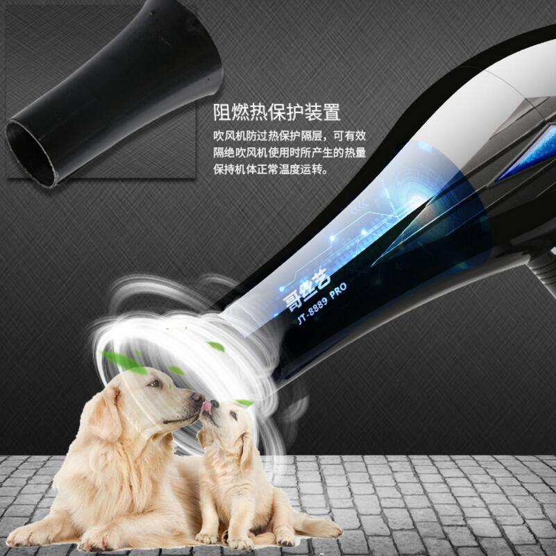 Professional Dog Hair Dryer Pet High Power Hairdryer Hair Blower Water Golden Hair Teddy Take A Bath Large and Small Dogs Heater